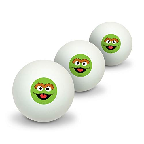 Amazing Deal GRAPHICS & MORE Sesame Street Oscar The Grouch Face Novelty Table Tennis Ping Pong Ball...
