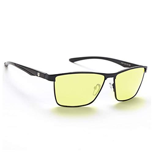 AoHeng Nachtfahrbrille HD Nachtsichtbrillen Blaulichtfilter Polarisiert Photochrom Fahren Computerspiel Nacht Brille Blendschutz UV-Schutz