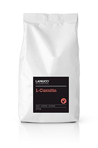 L-Carnitin 25 kg - 100% reines Carnitine Pulver Aminosäure Fatburner Energie Antioxidantien