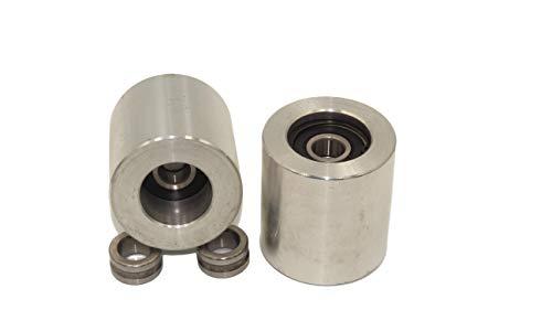Set mit 2 CNC-gefrästen Bandschleifern für Messerschleifer Ø 50 mm - 55 mm breit…