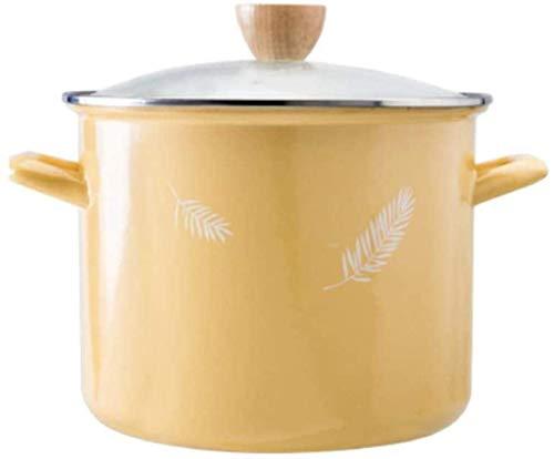 Olla para el hogar, Cazuela de utensilios de cocina con tapa, olla de sopa con recubrimiento de esmalte antiadherente, olla de sopa, cacerola de esmalte de alta temperatura adecuado para la estufa de