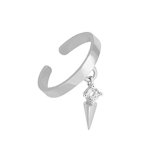 BOSAIYA SS1 925 Sterling Silver Ear Puff para Mujeres 1 PCS Clip de circón con Encanto en Pendientes Earva Sin Piercing Pendientes Joyería TL0413 (Gem Color : Silver Color)