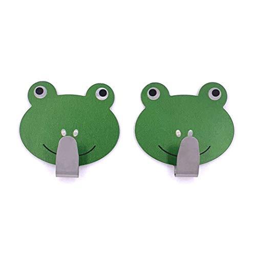 Tierhaken selbstklebend Kinder Wandhaken Handtuchhaken Schlüsselhaken Klebehaken Garderobenhaken Handtuchhalter ohne Bohren (Kleiner Frosch)