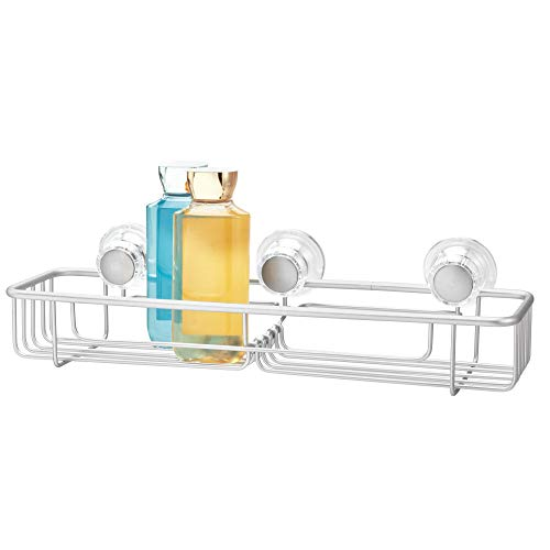 InterDesign シャワーラック 風呂 バスルーム 防錆加工 アルミ製 吸盤 Metro XL サイズ シルバー 20910EJ