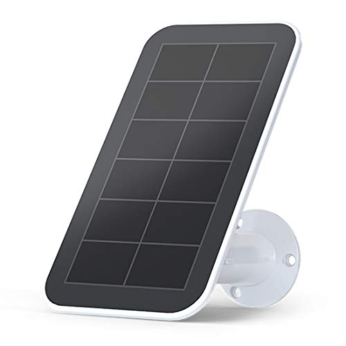 Arlo Certified Accessory - Solar Panel Charger | Weather Resistant, 8 ft Magnetic Power Cable, Adjustable Mount | Only Compatible with Arlo Ultra and PRO 3 Camera|(VMA5600), White