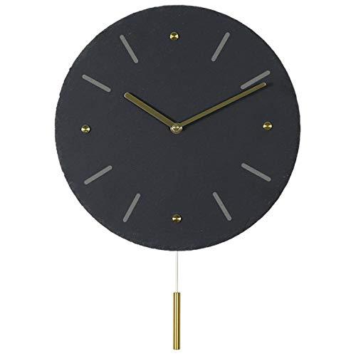 Fnho Mute Moda Reloj de Pared Comedor,Reloj de Pared Mute Moda Escuela,Reloj de Pared Creativo para el hogar, Reloj Personalizado-A_30-43cm