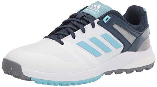 adidas Women's Golf Shoe, White/Hazy Sky/Crew Navy, 6.5