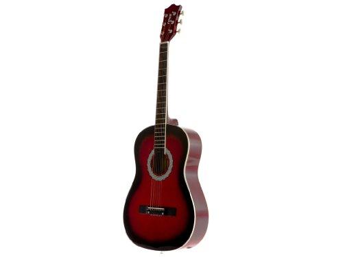 Fever FV-030-RD 3/4 38-Inch Acoustic Guitar, Redburst