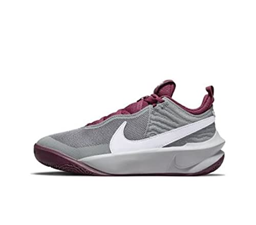 Nike Team Hustle D 10, Scarpe da Ginnastica, Smoke Grey/Pure Violet-Dark Beetroot, 39 EU