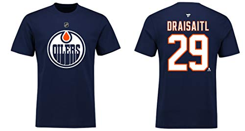 Fanatics NHL T-Shirt Edmonton Oilers Leon Draisaitl #29 Name & Number Trikot Jersey (XXL)