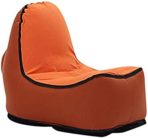 XHCP Faule luftgefüllte Mittagessen Mittagessen Sofa tragbare Tasche Single Storage Matratze Outdoor Klappsitz tragen Gewicht 180 kg (Farbe  Caramel90x110x85cm)