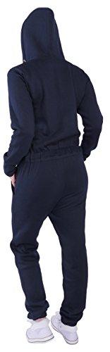 Finchgirl Damen Jumpsuit Overall Einteiler Jogging Anzug Navy - 3