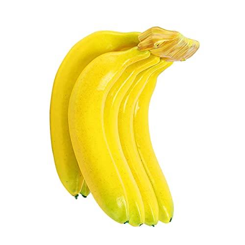 KJBGS Fruta Artificial 3/7 unids Frutas Artificiales Plátanos Frutas Falsas Cognitivas Ayudas de enseñanza EVA Fruta de plástico para Tienda Tienda Display Decoración Boda Prop Limpio y Hermoso