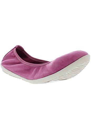Softinos Damen OKI451SOF Washed Geschlossene Ballerinas, Pink Pink, 38 EU