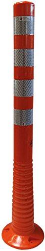 UvV UVTP4431 Flex-Absperrpfosten 1000 mm - reflektierend mit Orafol 5931 Silber (DIN Reflexfolie- EN 12899-1:2008, RA2/C) - als flexibler Sperrpfosten mit stabilem Standfuß