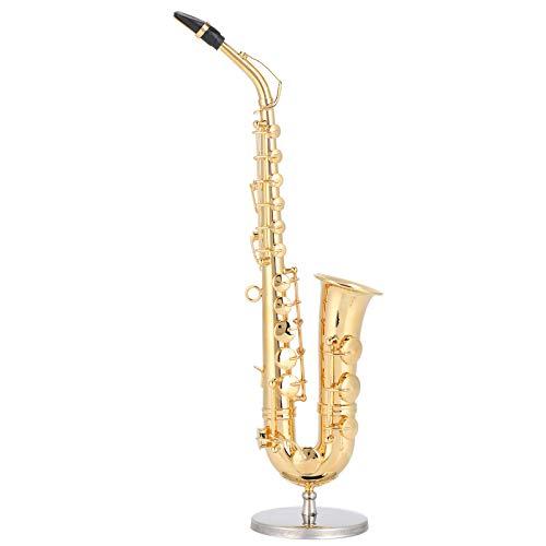 Alinory 19cm Messing Musikinstrument Modell, kleine Saxophonverzierung, Schlafzimmer für Wohnzimmer Sammlung Arbeitszimmer