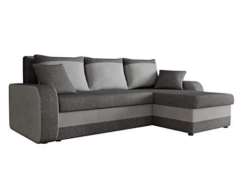 Ecksofa Kristofer Lux, Eckcouch Couch! mit Schlaffunktion, Zwei Bettkasten, Farbauswahl, Wohnlandschaft! Bettfunktion! Design L-Form Sofa! Seite Universal! (Lux 6 + Lux 5.)
