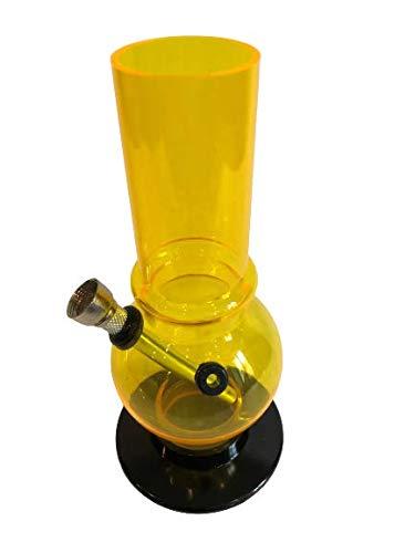 ARL Group Le Bazaar Shop - Pipa de agua de acrílico amarillo 18 cm cuenco 7 cm