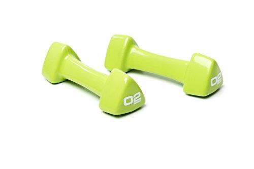 ESCAPE Studio Hantel (Paar) - Mancuerna (hasta 5 kg), Color Verde, Talla 2 kg
