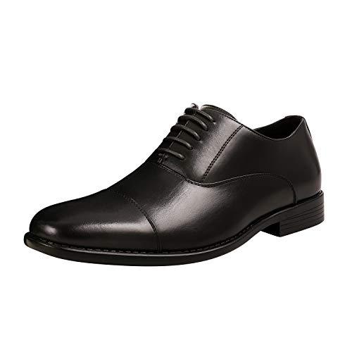 Bruno Marc Men's Dress Shoes Formal Classic Cap Toe Lace-up Oxfords Black Size 12 M US DP-06