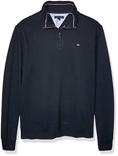 Tommy Hilfiger Men's Big and Tall 1/4 Zip Pullover Sweater, Peacoat, Big-4XL
