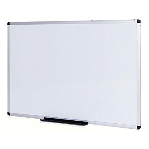VIZ-PRO Pizarra blanca magnética con marco de aluminio, 120 x 90 cm