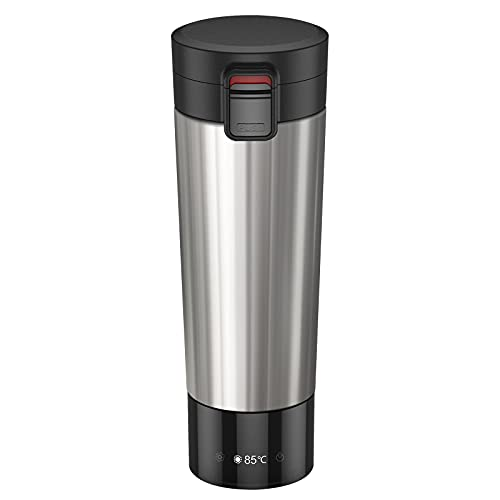 FUTURELAB Temperature Control Coffee Mug, Multi-functional Travel Mug with 14400mah Power Bank, Vacuum Insulated Hot Beverage Warmer, 6 hours battery life,10OZ (Stainless Steel)