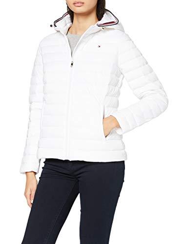 Tommy Hilfiger Damen Th Essential Lw Dwn Pack Jkt Jacke, Weiß (White Ybr), 40 (Herstellergröße: X-Large)