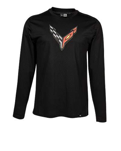 C8 Corvette Next Generation Carbon Flash Long Sleeve T-Shirt - Black (Large)
