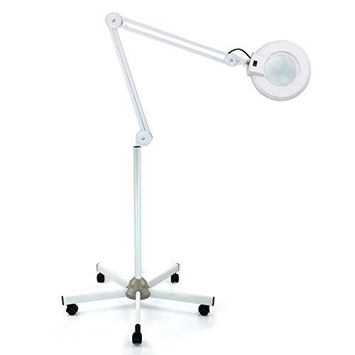 Zephyri - Lámpara de pie portátil LED con lupa, 8 lupas, 24...