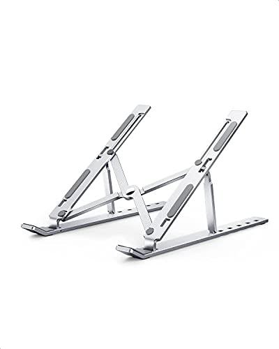 Soporte Portátil Mesa, 6 Ángulos Ajustables+Aleación de Aluminio+protección Anti arañazos, Soporte Ordenador...