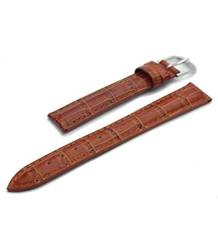 Correa de reloj de piel marrón