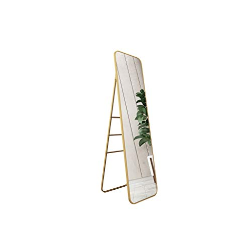 SZQ wandspiegel voor vloer, rechthoekig, staande spiegel, spiegel van metaal, grote afmetingen, spiegel voor meisjes, volledige lengte, spiegel geschikt voor winkelcentrum, hotel, badkamerspiegel 40*2*150CM