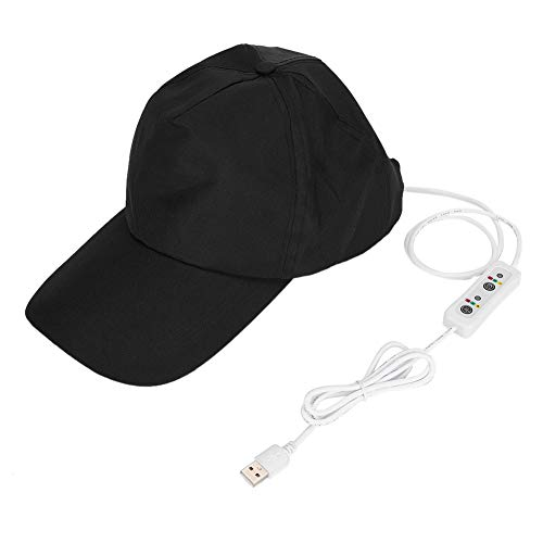 118 Light Beads Sombrero para el crecimiento del cabello con control de aceite y mejora de la pérdida del cabello, tapa para el crecimiento del cabello para hacer que el cabello crezca más(Negro)