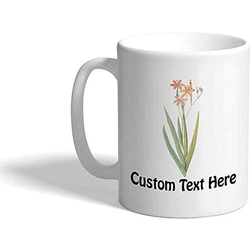 Gewohnheit Kaffeetasse 330 ml Blumen-Z3 botanische keramische Tee-Schale personalisierter Text