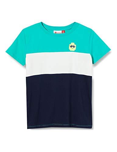 LEGO Wear Lwtobias Camiseta, Multicolor (Green Melange 800), 104 para Niños