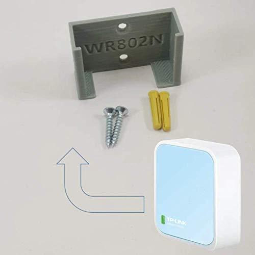 TP Link Nano WIFI Router WR802N Wandsteun onder bureau houder 3D TPL WR802N GREY