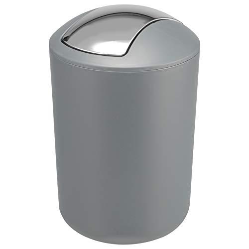 bremermann Badeimer mit Schwingdeckel, Kunststoff, 5 Liter (grau)