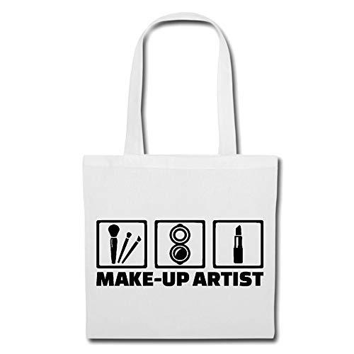 Tasche Umhängetasche Make UP Artist - Kosmetikerin - KOSMETIKSTUDIO - PERMANENT Make-UP - MASKENBILDNERIN Einkaufstasche Schulbeutel Turnbeutel in Weiß