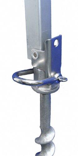 Lot de 3–auvent pour caravane/cAMPING support en aluminium trempé sCHRAUBHERINGEN manille en acier inoxydable 25 mm sur la tête la plus forte dans ses dimensions - 3 à 25 mm sur metallschäkel-la tête des sTABIELO-pROFI-wurmi avec sPEZIALHÄRTUNG-schraubheringe-crochets-wurmi produits pour caravanes de cAMPING-oUTDOOR-loisirs-fabriqué en allemagne-long terme avec succès l'essai de distribution-innovation fabriqué en allemagne-holly produits sTABIELO ®-holly-sunshade ®