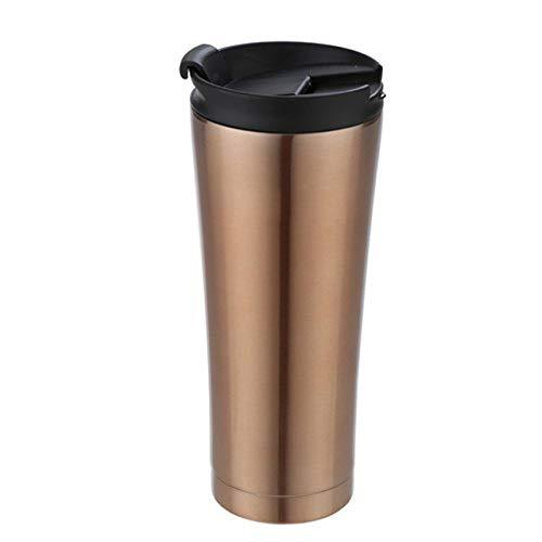 yylikehome sans bpa Isolé 500ml Tasse à café Tasse à Vide Double paroi en Acier Inoxydable Thermos Bouteille avec Couvercle Bouilloire Flask ma Bouteille d'eau 500ml COPPERY