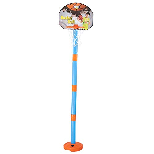 Truvendor Enterprises 2 in1 Basketball Set with Adjustable Stand and Magnetic Dart Game for Kids for Indoor & Outdoor use (Rubber Basketball & 3 Darts Included in The Box) (Multi Color,Pack of 1 set)
