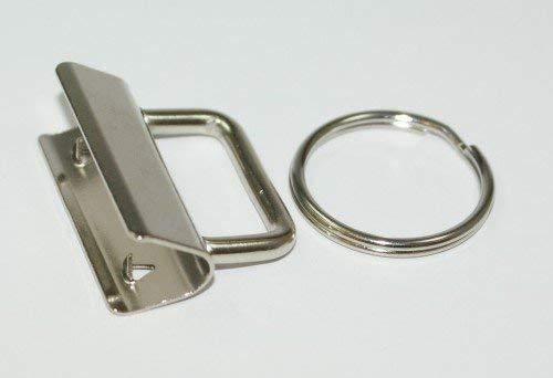 Rohlinge/Klemmschließe für Schlüsselanhänger, für 30mm breites Gurtband - Neues Model - 50 Stück *NEU*