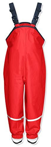 Playshoes - Regen-Latzhose, Salopette per bambini, manica lunga, Rosso (Red), 104 cm