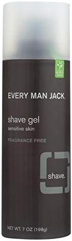 Every Man Jack Shave Gel Sensitive Skin Fragrance Free 7 oz product image