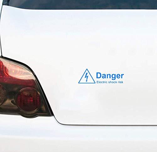 Advertencia Peligro Choque eléctrico Riesgo Etiqueta engomada del coche Decoración Gráfico 18Cmx5.5Cm...