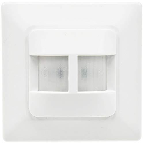 Bewegungsmelder Unterputz 180° Sensor I 9m Reichweite I Für LED geeignet I 2-Draht Ersatz für einen Schalter I Weiß