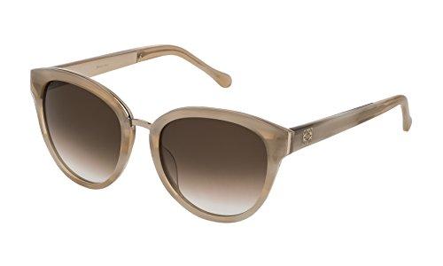 Loewe SLW975M5401F9 Gafas de sol, Shiny Streaked Beige, 54 para Mujer