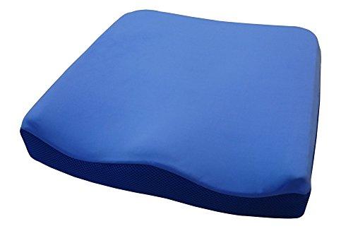 Sitzkissen BSF-Seat-010 / Sitzkissen / Rollstuhlkissen / Gel + Memory Foam / Maße: 42 cm x 42 cm x 8 cm / Bürokissen / Stuhlkissen /