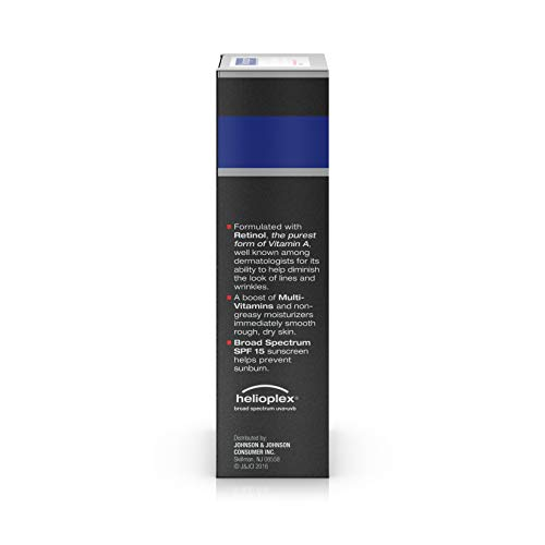 Neutrogena Age Fighter Anti-Wrinkle Retinol Moisturizer for Men, Daily Oil-Free Anti-Aging Face Lotion with Retinol, Multi-Vitamins, and Broad Spectrum SPF 15 Sunscreen, 1.4 oz